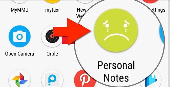 """aplicacion disfrazada como """"Personal Notes"""" el ladron no se da cuenta"""