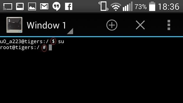 terminal comandos android